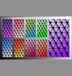 triangle gradient wallpaper for smartphone screen vector image