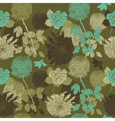 Vintage Flowers Pattern vector