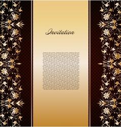 Vintage gold floral background vector