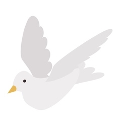 White pigeon isometric 3d icon vector image
