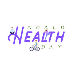 World health day holiday poster - flat design vector