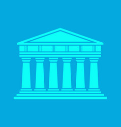 architecture greek temple icon vector image vector image