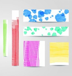 Colorful painted banners set vector image vector image