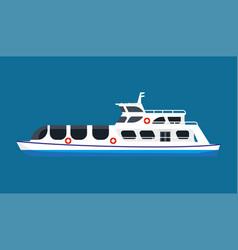 Cruise ship in ocean vector