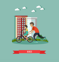 bike concept in flat style vector image