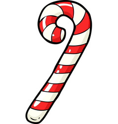 doodle christmas candy vector image vector image