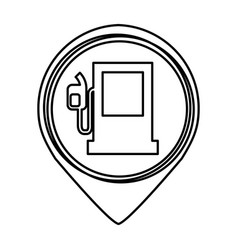 fuel station isolated icon vector image