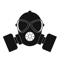 respirator icon simple style vector image
