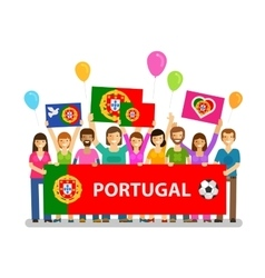 Soccer championship sport icon fans of portugal vector