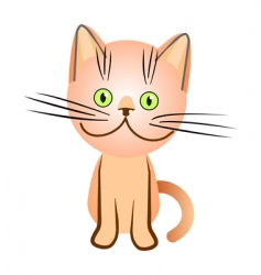 cat illustration vector image vector image