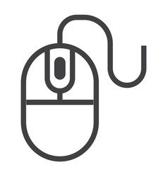 computer mouse line icon click and website vector image vector image
