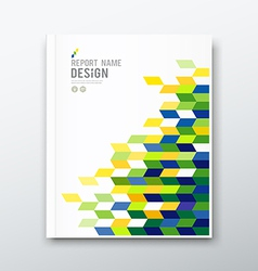 Cover annual report flag of brazil geometric desig vector image vector image