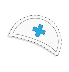 Medicine flat icon for design nurse cap world vector