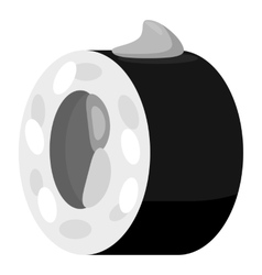 Sushi icon gray monochrome style vector image