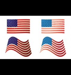 usa flag grunge variation vector image vector image