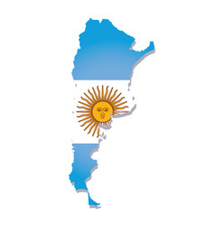 argentina flag amp map vector image vector image