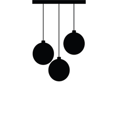 chandelier silhouette ball black vector image vector image