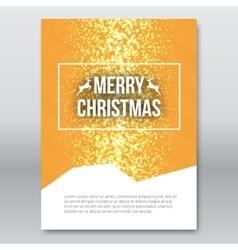 Merry Christmas Orange Invitation Card design vector image