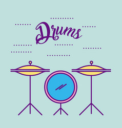 musical concert drums vector image