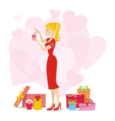 Present for woman 02 vector image