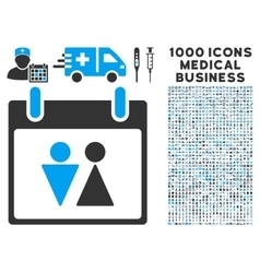 Toilet Calendar Day Icon With 1000 Medical vector image vector image