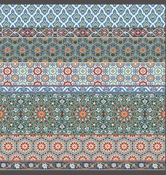 arabic decorative azulejos tiles patchwork vector image