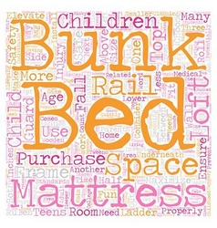 Are loft beds bunk beds safe text background vector
