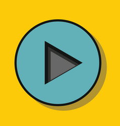 audio player in flat style with shadow vector image