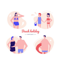 beach holiday - flat design style vector image