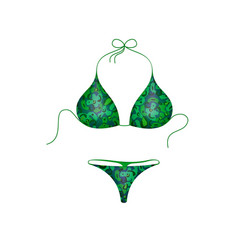 bikini suit in green and blue military design vector image
