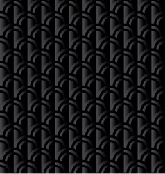 Black retro squama seamless pattern in ar deco vector