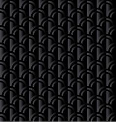 Black retro squama seamless pattern in ar deco vector