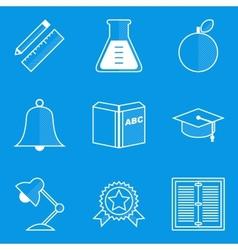 Blueprint icon set Education vector