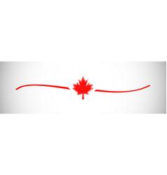 canada leaf horizontal doodle vector image