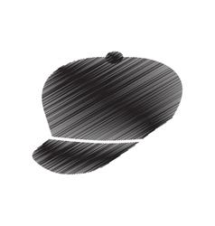 cap sport fashion element pictogram draw vector image