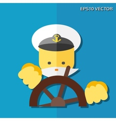 Captain flat icon vector