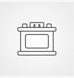 car battery icon sign symbol vector image