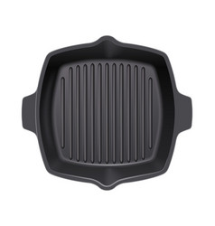 Cast-iron grill pan vector