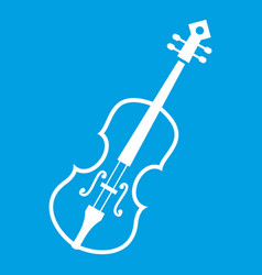 Cello icon white vector