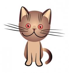 Chocolate british cat vector