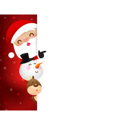 christmas santa claus cartoon smile 004 vector image