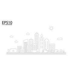 cityscape landscape flat design concept vector image