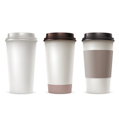 Coffee Paper Cup Set vector image