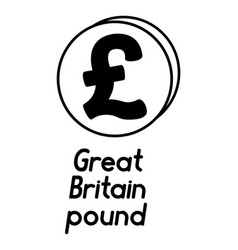 Coin with pound sterling sign vector