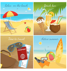 colorful summer vacation concept vector image