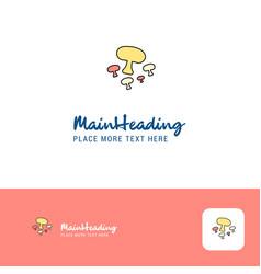 creative mushroom logo design flat color logo vector image