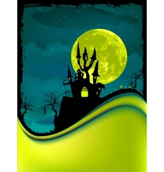 dark scary halloween night vector image