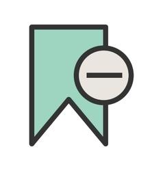 Delete Bookmark vector