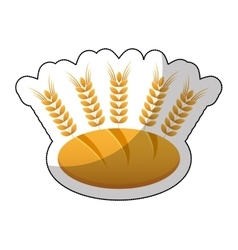Delicious bread with spikes isolated icon vector