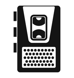 Dictaphone icon simple style vector image
